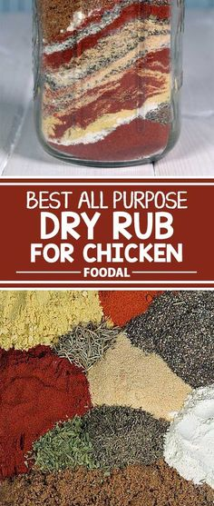 Are you searching for the perfect dry rub that gives you tasty results with your chicken? A dry rub can give your bird the ultimate in a crispy skin with juicy and flavorful meat underneath. Try our rub recipe. Sweet, spicy, amazing texture, and out of th Homemade Spices, Homemade Seasonings, Dry Rub For Chicken, Best Chicken Rub, Grilled Chicken Rub, Smoked Chicken Rub, Best Chicken Seasoning, Barbecue Chicken, Seasoning Mixes