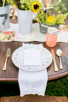 Rustic Pink, Sage, and Yellow Wedding Ideas - Photos by Ashley McCormick Photography (@Ashley Walters Walters McCormick) | Design by Emily Grace Design (@Emily Schoenfeld Schoenfeld Grace McCollum) | Paper by Dogwood Blossom Stationary