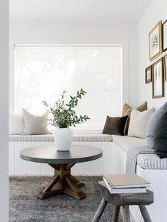 Sunroom Furniture, Wicker Furniture, Diy Furniture, Black And White Tiles, White Walls, Sunroom Decorating, Sunroom Ideas, Decorating Ideas, Small Sunroom