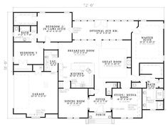 Colonial home plans circular stair 5000 sf 2 story 4 br 5 for How big is a two car garage square feet