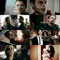 """#TO The Originals  Klaus,Hayley & Hope  """"You can break my soul,take my life away,beat me,hurt me,kill me,but for the love of God, don't touch them"""""""