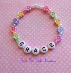 Easter Flower Baby Toddler Bracelet by Justtoocutedesigns on Etsy, $4.25