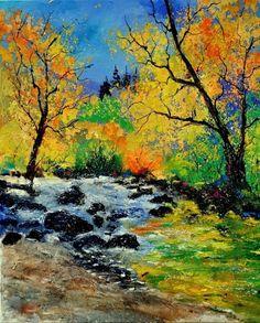 ywoigne 67, painting by artist ledent pol