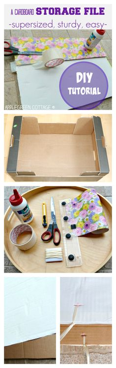 A supersized, sturdy and easy DIY storage for large chunks of paper - or sewing pattern storage. Zero cost!