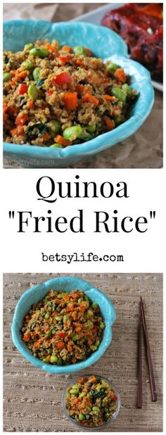 "Quinoa ""Fried Rice"". A healthy take on a classic recipe. A seasonal side dish perfect for your next dinner."