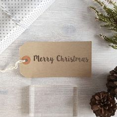 Merry Christmas Line Stamp