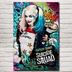 Suicide Squad Margot Robbie Harley Quinn Film Art Silk Poster Home Decor Painting 12x18 16X24 20x30 24x36 Inches Free Shipping