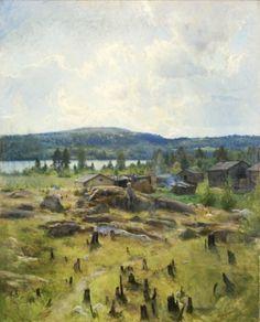 Eero Järnefelt, Heinäkuun päivä (1891) Kuva: Hämeenlinan taidemuseo.