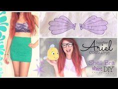 ARIEL Disney Princess Costume - Hipster - Shell Bra Shirt DIY