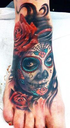 Realism Muerte Tattoo by Mikko Inksanity - http://worldtattoosgallery.com/realism-muerte-tattoo-by-mikko-inksanity-4/
