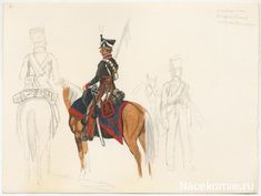 Line Hussar, 1812. Likely the Pavlograd regiment although the sabretache and shabraque colours should be dark green with red lace.