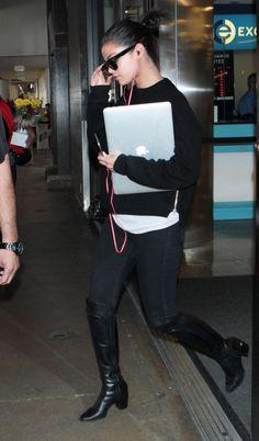 May 5: Selena arriving at LAX airport in Los Angeles, California