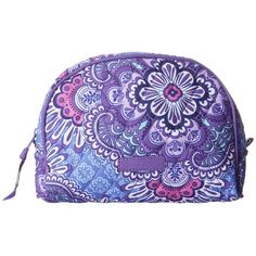 Vera Bradley Luggage Medium Zip Cosmetic (Lilac Tapestry) Cosmetic... ($28) ❤ liked on Polyvore featuring beauty products, beauty accessories, bags & cases, cosmetic bags, dop kit, makeup bag case, travel kit and travel toiletry case