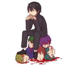 o senpai precisa ser yandere também , e ele mata a yandere-chan  para ela não ficar com ele  , e ele mata todas as pessoas da escola , e fica só pra mim :v