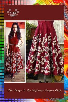 BOLLYWOOD REPLICA : AMYRA DASTUR IN RED CASUAL SILK TUNIC DRESS WITH ZARI WORK. Buy Apparel
