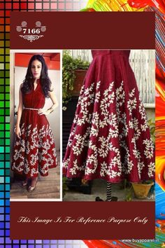 BOLLYWOOD REPLICA : AMYRA DASTUR IN RED CASUAL SILK TUNIC DRESS WITH ZARI WORK. Buy Apparel