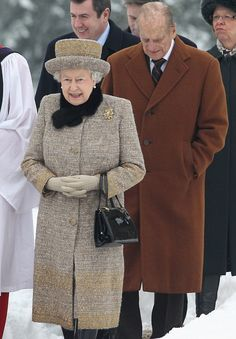 The Queen attended church near Sandringham alongside her husband yesterday as the couple prepared for the anniversary