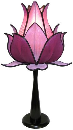 Sprouting Lotus Table Lamp - Purple