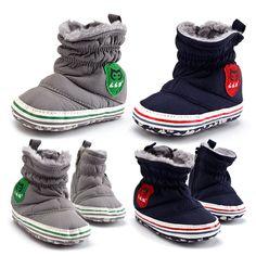 Wish | Baby Girls&Boys Winter Snow Boots Bowknot Shoes Prewalker