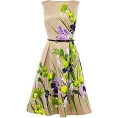Coast Amelie Print Dress ($150) ❤ liked on Polyvore featuring dresses, vestidos, short dresses, floral, short summer dresses, cap sleeve summer dress, slimming summer dresses, slimming dresses and mesh dress