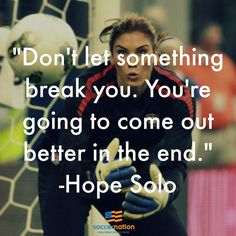 Hope Solo doesn't break                                                       …