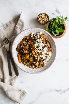 Brown Rice Salad with Spice-Roasted Carrots, Feta + Pine from My Darling Lemon Thyme by Emma Galloway | edibleperspective...