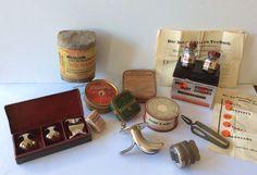 Elf  items Medisch w.o. Frans Aderlatingsinstrument ( scarificateur ) - KNO en andere medische zaken , 1e helft 20 e eeuw  herkomst Nederland