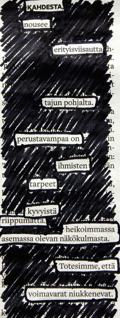 This site is a companion to the book Newspaper Blackout by Austin Kleon. It's a place where anyone can share their attempts at blackout poetry. Austin Kleon, Blackout Poetry, Newspaper, Journaling File System