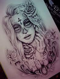 Resultado De Imagen De Dibujo Catrina Para Tattoo Diseños
