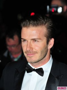David Beckham Suits Up for Awards Ceremony in London