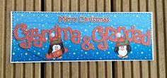 Grandma & Grandad Christmas Card by TheBlenheimCardCo on Etsy