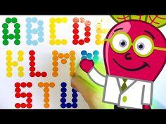 Aprende el Abecedario mayúsculas y minúsculas, en un abc para niños con el Doctor Beet en este vídeo educativo infantil en español. Lectoescritura y ortograf...