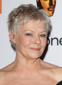Pixie Haircuts for Women Over 50 | Judi Dench Short Pixie Cut for Women Over 50
