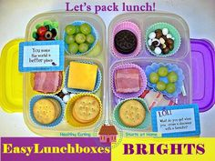 DIY Lunchables, packed in #EasyLunchboxes