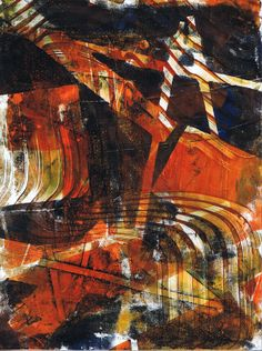 """""""Sepia Wave"""" original acrylic monotype by Sharon Giles Installation Art, Waves, Ink, Abstract, Drawings, Artwork, Prints, Painting, Summary"""