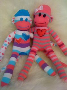 Custom handmade sock monkeys! Perfect gift for everyone this holiday! made by my best friend (if interested let me know!!)