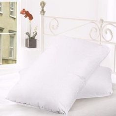 goose down pillows king 2 feather size white cotton bed bedding sleeping comfort