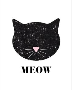 Sequin Cat - Free Nursery Printables for Girls Nursery Decor Inspiration or for Wall Art anywhere in your home!