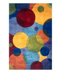 Look what I found on #zulily! Bright Bubbles Wool Rug #zulilyfinds