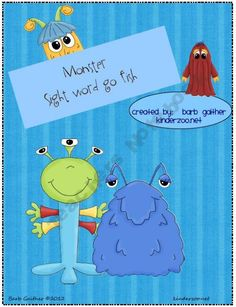 Monster Sight Word Go Fish game