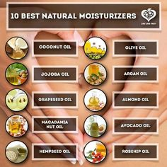 Ten Best Natural Moisturizers! ♡ #Skincare #Organic #Jojoba #Beauty