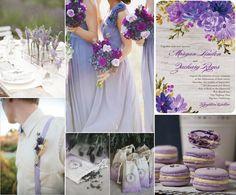 Pantone Violet Tulip Wedding Inspiration Board by LoveBuggs Weddings
