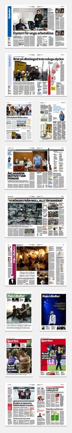 Indesign Modern Newspaper Magazine Template A3 Pinterest