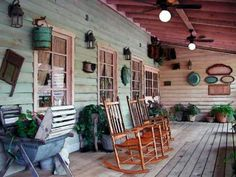 Southern Story// I love this porch, so...country.