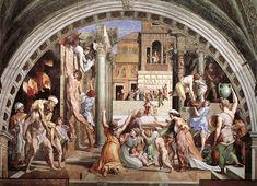1514.the Fire in the Borgo.Raphael (1483-1520)Fresco, width at base: 670 cm.Stanza dell'Incendio di Borgo,Palazzi Pontifici,Vatican.