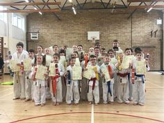 St ives karate club kids karate examination March 2018