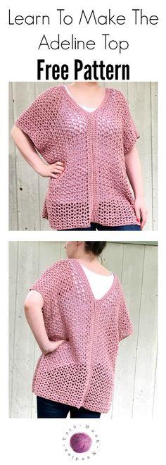Adeline Top By Jerica - Free Crochet Pattern - (yarnhookneedles)
