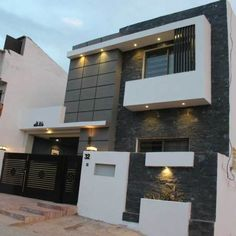 cool modern exterior and interior design ideas House Gate Design, Bungalow House Design, House Front Design, Small House Design, Modern Exterior House Designs, Modern Architecture House, Modern House Design, Indian House Exterior Design, Architecture Design