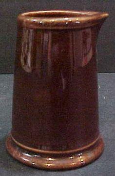 Brown stoneware pottery vintage individual restaurant ware creamer pitcher picclick.com
