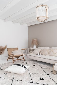 Beige Living Rooms, Boho Chic Living Room, Ikea Living Room, Living Room Lounge, Living Room Interior, Home Room Design, Living Room Designs, Beautiful Interior Design, Cozy Room